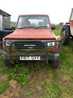 Daihatsu Fourtrak 28TDL Red Diesel Limited use Agricultural Vehicle 4WD