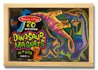 Melissa  Doug Magnetic Wooden Dinosaurs in a Wooden Storage Box 20 pcs