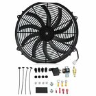 16 INCH ELECTRIC RADIATOR COOLING FAN 12v 3000cfm RELAY THERMOSTAT KIT BT