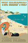 The Hamptons Long Island New York Shore Retro Art Deco Poster Atlantic Print 341