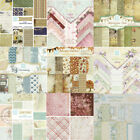 24pcs Vintage Scrapbook Art Card Photo Album Designer Making Paper Pad Craft