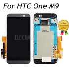 For HTC ONE M9 LCD Display Touch Screen Digitizer Frame Replacement Grey + Tools