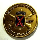 10th Mountain Division Challenge Coin with 62d Air Defense Artillery on reverse