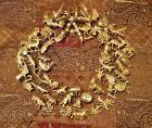 Vintage Dresden Petite Choses 16 Antique All Holiday Wreath Christmas