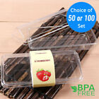 50 100set Clear Durable Cake Bread Plastic Box Container without Label OA