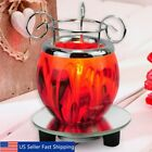 Electric Scented Oil Warmer Lamp Wax Burner Bulb Fragrance Diffuser Purple Red