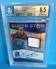 2015-16 Panini Spectra Superstar Material Autographs #2 Kevin Durant BGS 8.5