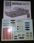 66 1966 Nova SS Grumpys Toy Bill Jenkins 1/25 Waterslide Decal instruction Sheet