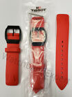 Original Tissot T-Race Touch T081420A Red Rubber Watch Band Strap with Pins