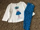 Nwt Gymboree Bonjour Bow Girls Knit Set Stars Shirt Leggings 12 18 M