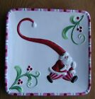 FITZ & FLOYD MINGLE JINGLE BE MERRY CHINA CHRISTMAS CANAPES PLATE