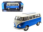 ANAA 12531BL 1962 Volkswagen Microbus Blue 1 18 Diecast Car by Welly