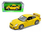 ANAA 18024Y Porsche 911 997 GT3 Yellow 1 18 Diecast Car Model by Welly