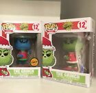 Funko Pop! GRINCH both CHASE and common! NEAR MINT!