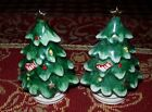 Vintage Ceramic Christmas Tree salt/pepper set~Lefton's 054N