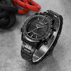 OHSEN Military Stainless Steel Date Stopwatch Analog Digital Men's Quartz Watch