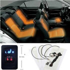 New Version 2 Seats Carbon Fiber Car Truck Heated Seat Heater Pads +5 Switch 12V