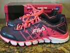 FILA Turbo Fuel BC Women US 7 Blue Running Shoe Sneaker PINK Breast Cancer