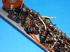 VINTAGE 1950s SPRAGUE BUMBLEBEE CAPACITOR LOT ON 12AX7 TUBE STRIP AMPLIFIER