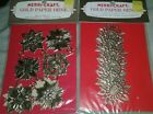 Vintage Christmas Gold Embossed Paper Ornaments Project Crafting Pieces