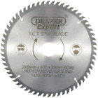 Draper Expert 09478 210 x 30 mm 60-Tooth TCT Saw Blade