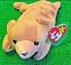 RARE Cubbie The Bear 1993 RETIRED Original 9 TY Beanie Baby PVC - TUSH INK ERROR