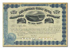 Central Cross Town Railroad Company Stock Certificate Aerial View of Manhattan