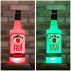 Jim Beam Red Stag Color Change Remote Bottle Lamp Man Cave Christmas Gift Idea