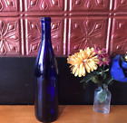Cobalt Blue Wine Bottles Empty 750 ml Display Home Brew or Crafts 12 tall