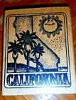Delafield Rubber Stamp CALIFORNIA state sun palm trees beach G685