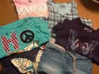 Girls size 10 lot of 5 tops  Justice shorts