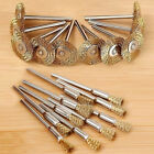 10 pcs Mini Wire Brushes Set Brushes Brass Cup Wheel for Grinder or Drill 2Size*