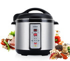 Programmable Pressure  Steam Cooker 7-in-1 6Qt Electric Stainless Electric New
