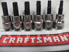 New Craftsman Torx Socket Bit Star 14 38 Or 12 Drive Choose Single Set