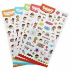 6 PCS HOT Diary Decoration Scrapbooking Stickers PVC Stationery Planner I5Y7