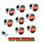 9 Pcs Billet Fairing Windshield Bolt Kit For Harley - RED LINE FIREFIGHTER - 094