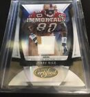 Jerry Rice 2009 Certified Immortals Multi-Color Jersey with Auto Serial # 23 25