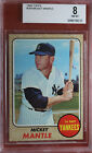1968 Topps baseball card MICKEY MANTLE #280 BVG 8 NM-MT WELL-CENTERED must c!