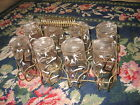 Vintage kitchen chic Native Tribal Hunting Glasses carrier tumblers rack DECO