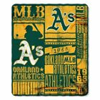 MLB Oakland Athletics Fleece 50 X 60 Throw Blanket NEW As Baseball Logo