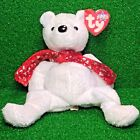 RETIRED Holiday Teddy 2000 TY Beanie Baby RARE Plush Toy - MWMT - FREE SHIPPING