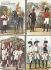 Attire Cavalry Life Guards regiment of His Majesty. 1731-1847(set of 15 cards)