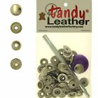 Tandy Leathercraft 7 16 Inch Line 20 Snap fastener kit CT15 w Tools Nickel