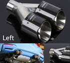 1Pcs Left Mount Real Carbon Fiber Exhaust Tip Dual Outlet Pipe ID25 OD35