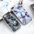 Retro Slim Granite Marble Pattern Soft TPU Phone Case Cover For iPhone 5 8 7Plus