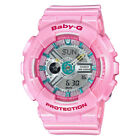 Casio G-Shock Baby-G Women's BA110CA-4A World Time Neo-Pink Resin 43.5mm Watch