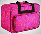 Portable Sewing Machine Carrying Case Tote Bag Universal Waterproof Rose Red New