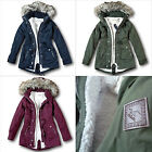 NWT Hollister by AbercrombieFitch Heritage Sherpa Lined Parka Fur Jacket Coat