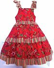 NWOT Custom Boutique 4 5 6 Fancy Christmas Red Rose Party Pageant Dress Pant Set