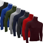 New Fashion Mens Turtle Neck Slim Fit Long Sleeve Tops Casual Shirt Pullover US